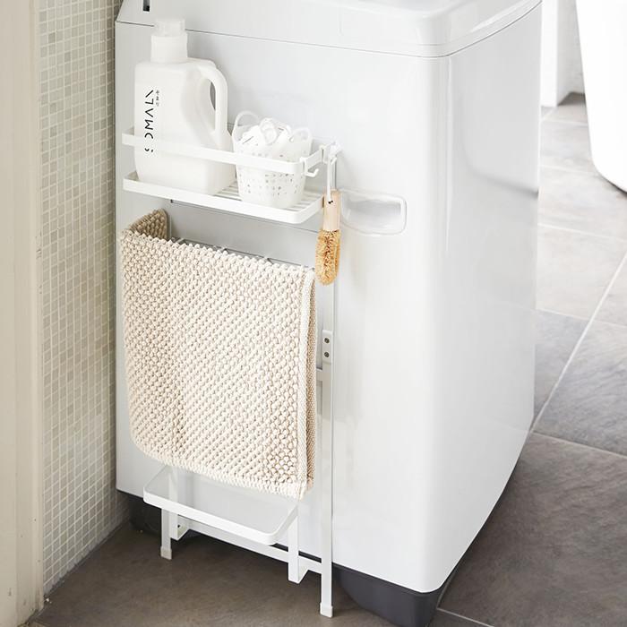 洗濯機 マグネット ラック 収納 tower おしゃれ 洗濯機マグネット収納ラック タワー 山崎実業 ホワイト ブラック 白 黒