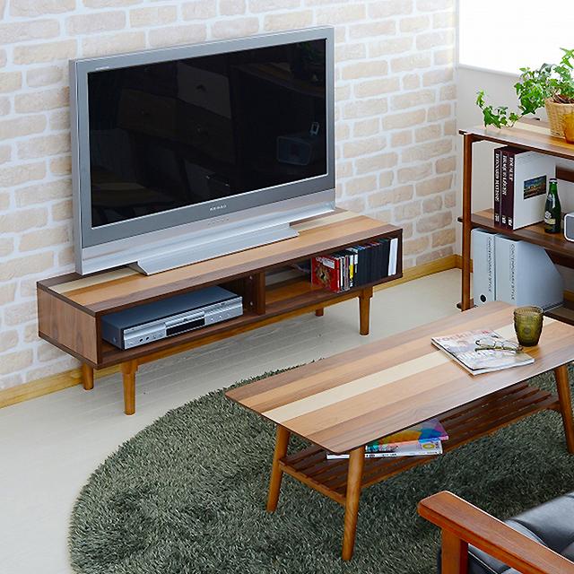 YOGEAR テレビ台 YOTB-120(ローボード テレビボード 天然木 テレビ台 テレビラック モダン ウォールナット ロータイプ ヨギア)