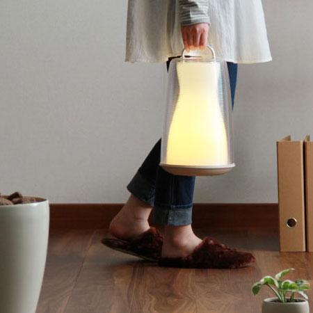 ポータブルLEDランプ Lidea (充電式 LideaA LEDライト LED照明 タッチセンサー 常夜灯 防雨 省エネ エコ コードレス ランタン 夏の計画停電対策 防災グッズ 節電)