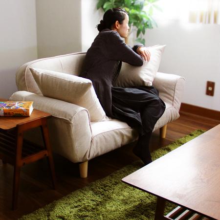 カウチソファー ルポ NEW REPOS クッション付き リクライニング 日本製 完成品 椅子 2人掛け 二人掛け 椅子 カウチソファ おしゃれ ローソファ