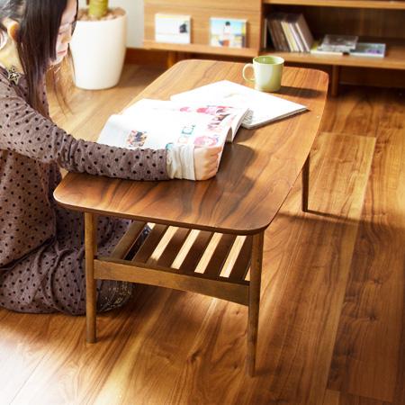 トムテ センターテーブル(tomte テーブル リビングテーブル ローテーブル 木 ウォールナット 北欧 ミッドセンチュリー シンプル 木製 木目)