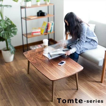 トムテ 折りたたみテーブル(センターテーブル ローテーブル リビングテーブル ローデスク ノルディック ノスタルジック 完成品 天然木 木製)