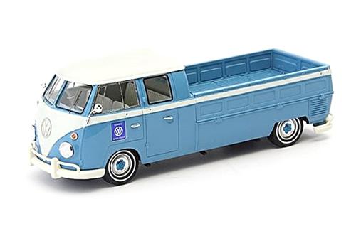 Auto Cult(オートカルト) 1/43 VW(フォルクスワーゲン) T1 ダブルキャビン ピックアップトラック ブルー/ホワイト