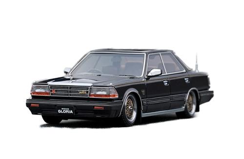 ignition model(イグニッションモデル) 1/43 日産 グロリア Y30 4ドア ハードトップ ブロアム VIP ブラック BBSタイプホイール