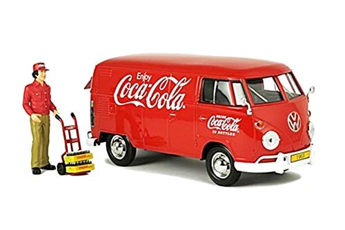 Motor City Classics(モーターシティクラシックス) Coca-Cola (コカコーラ) 1/24 VW(フォルクスワーゲン) タイプ2 T1 カーゴバン 1963 レッド 配送ドライバー付