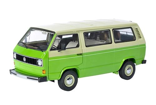Schuco 超歓迎された シュコー 1 当店限定販売 18 VW グリーン フォルクスワーゲン T3 ベージュ バス