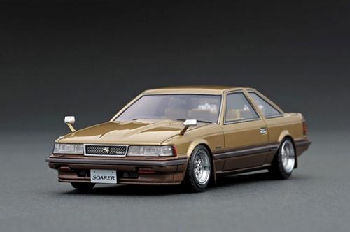 ignition model(イグニッションモデル) 1/43 トヨタ ソアラ Z10 2800GT エクストラ ゴールド/ブラウン SSRタイプホイール