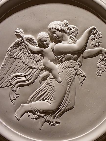 W40cmパイ 現金特価 イタリア製 天使のレリーフ 数量限定アウトレット最安価格