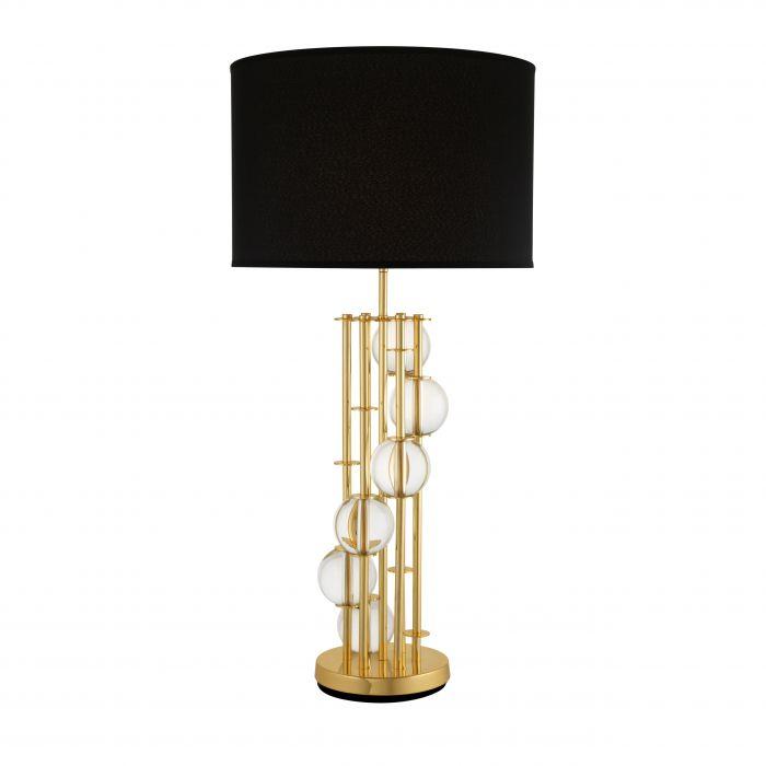 【EICHHOLTZ(アイホールツ)】テーブルランプLORENZO109975/ゴールド ブラックシェード/クリスタルガラス使用