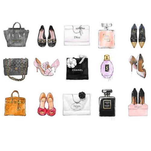 【オリバーガル正規品】Fashion Chart 14519 シャネル 114.3センチ×チ76.2センチ