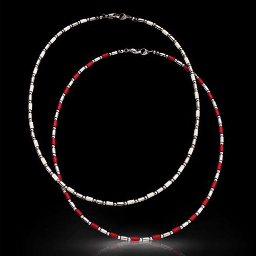DisMoi ディモア ネクサス 50cm ネックレス おしゃれ 軽い White Red 白 赤