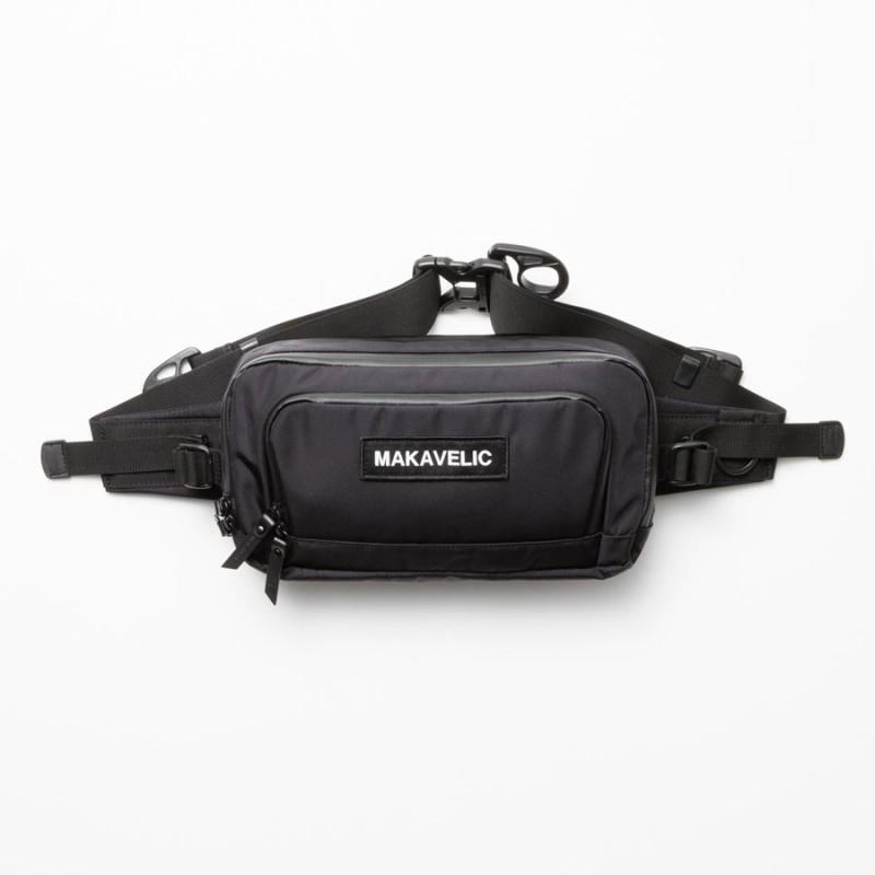 【送料無料】MAKAVELIC TRUCKS DA MOVE WAISTBAG マキャベリック ウェストポーチ ヒップパック ウェストバッグ(black)