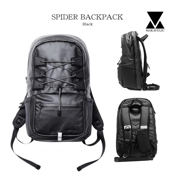BLACK マキャベリック リュックサック 【送料無料】MAKAVELIC SPIDER BACKPACK バックパック