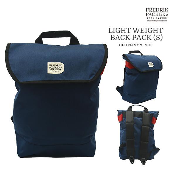 【送料無料】FREDRIK PACKERS フレドリックパッカーズ LIGHT WEIGHT BACK PACK(S) おしゃれ バッグパック 軽い OLD NAVY x RED
