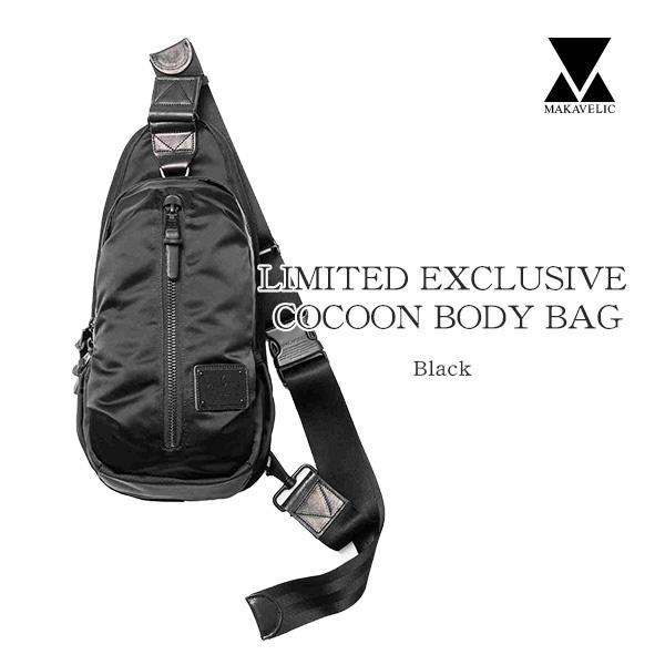 【送料無料】MAKAVELIC LIMITED EXCLUSIVE COCOON BODY BAG マキャベリック ボディバッグ BLACK
