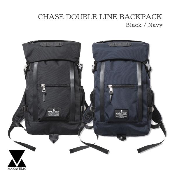 送料無料 MAKAVELIC CHASE DOUBLE LINE BACKPACK 高品質新品 リュックサック ダブルライン バックパック ラッピング対象外 通学 セール品 通勤 レディース 新生活 ギフト メンズ マキャベリック