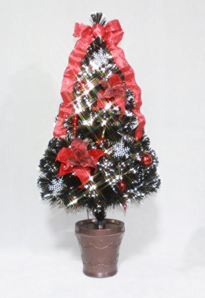 【送料無料】ブラックファイバーフラワーツリー150cm WG-5985 イルミネーション プレゼント
