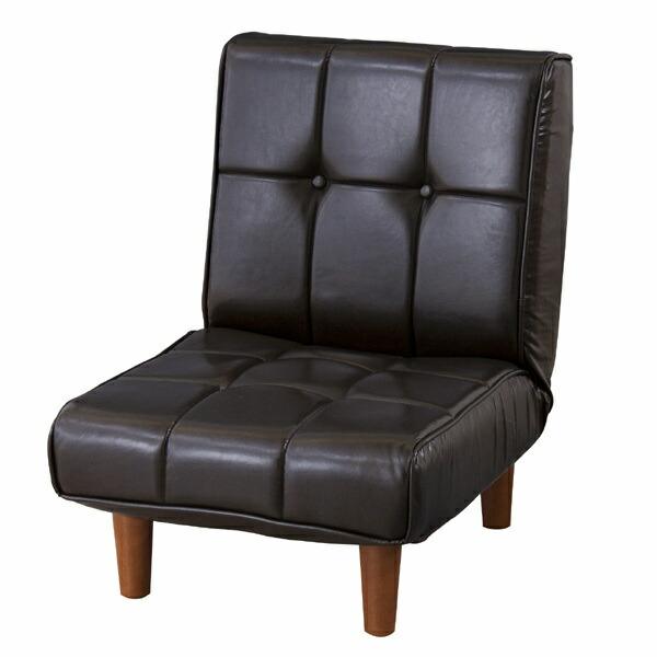【送料無料】フロアソファ ブラウン RKC-937LBR 東谷 メーカー直送 同梱不可 代引不可 配送地域限定 リクライニングソファー コンパクト 1人掛け 一人掛け 1人用 イス 椅子 チェアー おしゃれ