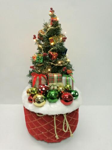 【送料無料】ノルディックレッドバッグツリー ライト付き WG-9627RE 友愛玩具 クリスマス イルミネーション