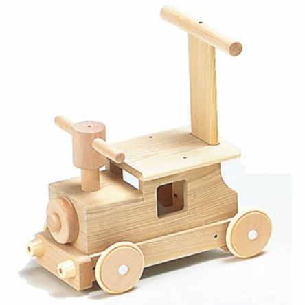 あす楽 【送料無料】森の汽車ポッポ W-027 日本製 MOCCOの森シリーズ 木のおもちゃ 平和工業 知育玩具 乗用 プレゼント