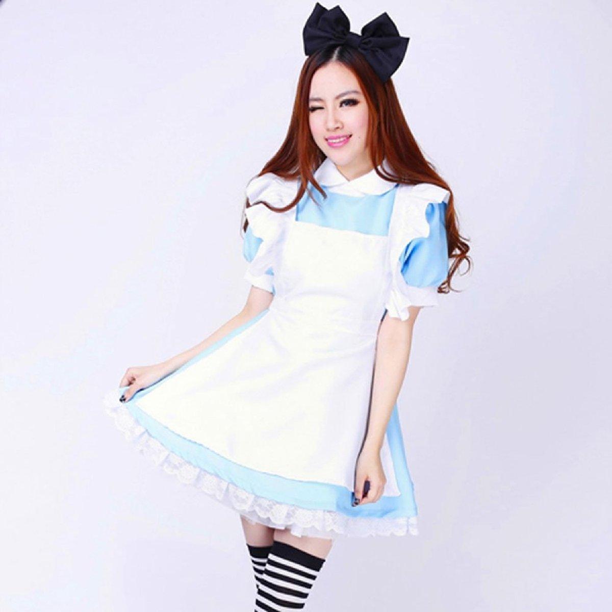 d7e1bb7c73ea9 不思議の国のアリス風メイド服かわいいコスプレ衣装コスプレセット変装仮装イベント