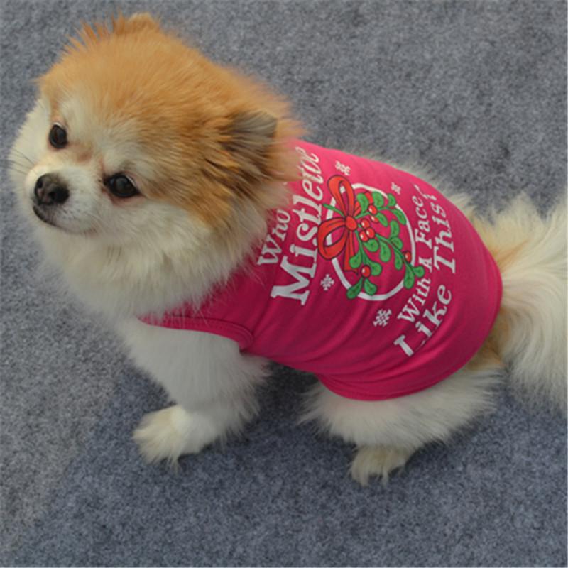 犬服 ドッグウェア 犬用ウェア 犬用シャツ タンクトップ 袖なし ノースリーブ クリスマス Christmas Xmas ロゴプリント 洋服 ペット用  超小型犬用 小型犬用 中型犬用 イヌ用 ワンちゃん用  DOG 可愛い お散歩 お出掛け