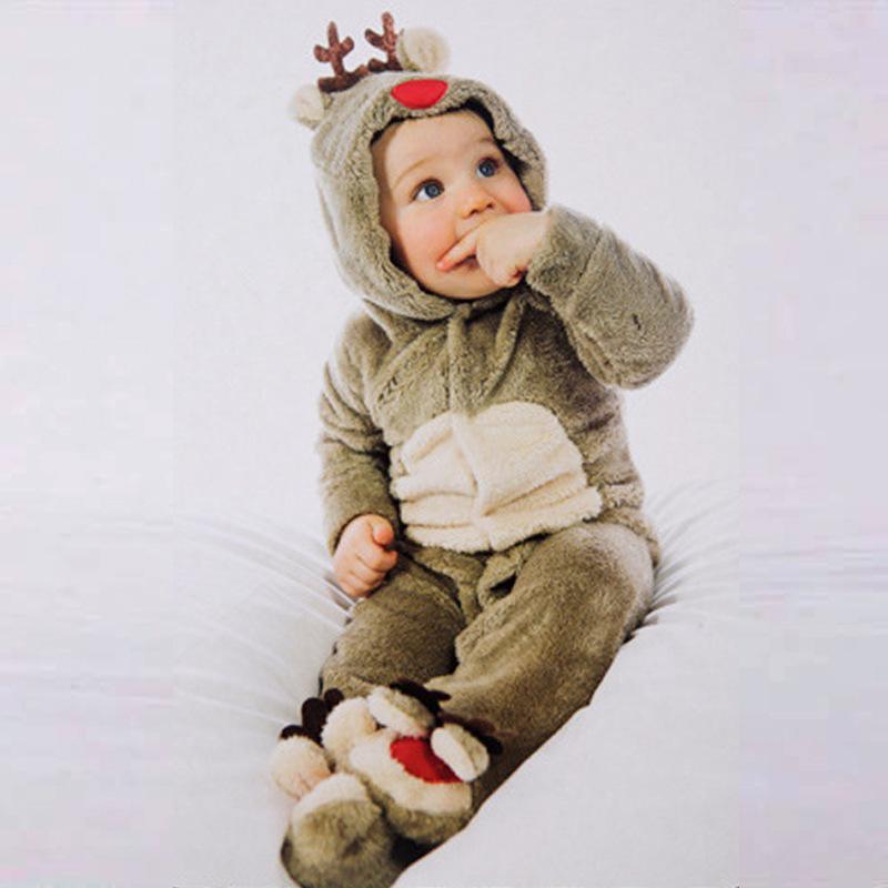 キッズ ベビー タイムセール マタニティ 洋品 洋服 帽子 水着 雨具 着ぐるみ 送料無料コスプレ フード付き 人気 トナカイ ふかふか ロンパース クリスマス コスチューム もこもこ ボタン パーティー あったかい