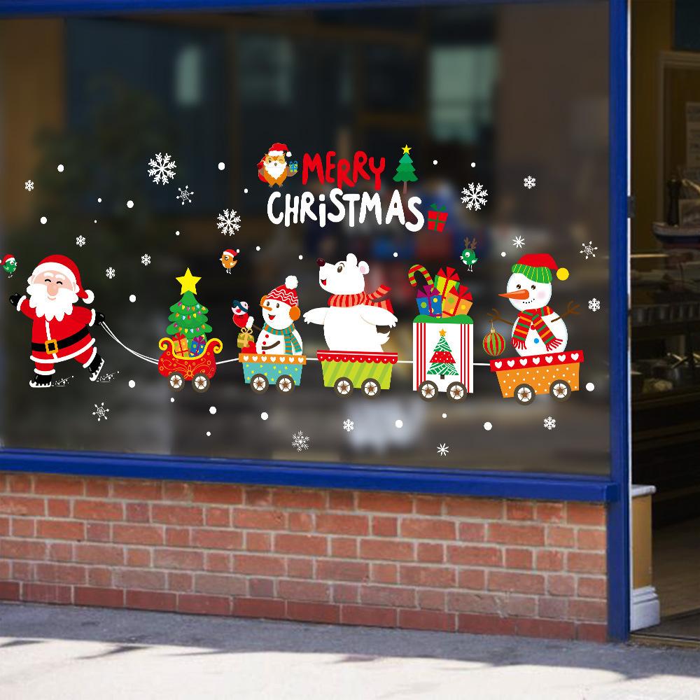 楽天市場 ウォールステッカー クリスマス スノーフレーク サンタさん