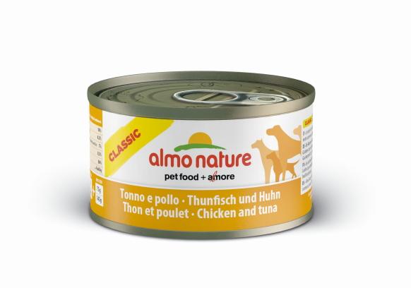 Almo Nature 初回限定 アルモネイチャードッグ缶 まぐろとチキンのご馳走 95g 売却 補完食 トッピング向