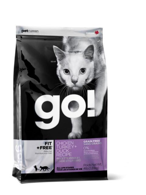 go!(ゴー!) フィットフリー チキンターキー+ダックキャット  7.25kg [送料無料][お取り寄せ]