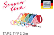 [flexi] Flexi lead mini summer (fun) time / mini Deluxe XS size up to 3 m tape Adaptive weight up to 12 kg for small dogs and cats