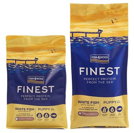 FISH4DOGS フィッシュ4ドッグ ファイネスト パピー 正規認証品!新規格 おしゃれ お取り寄せ 小粒 12kg 送料無料