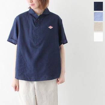ダントン リネンクロス 半袖プルオーバーシャツ (JD-3565 KLS) LINEN CLOTH PULLOVER S/S SHIRTS DANTON(レディース) *送料無料****
