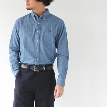 ジムフレックス シャンブレー B/Dシャツ (J-0643 COD) MEN'S SHIRTS CHAMBRAY Gymphlex(メンズ) *送料無料****