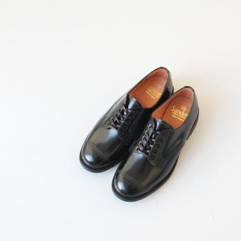 サンダース ミリタリーダービーシュー (1834B) MILITARY DERBY SHOE polished leather with itshide sole SANDERS(レディース) *送料無料* ***