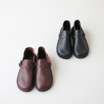 フラカップ レザーシューズ (R005) Italian Vegetable tanned Leather with Vibram (Italy) Morflex Cillegio sole FRACAP(メンズ) *送料無料****