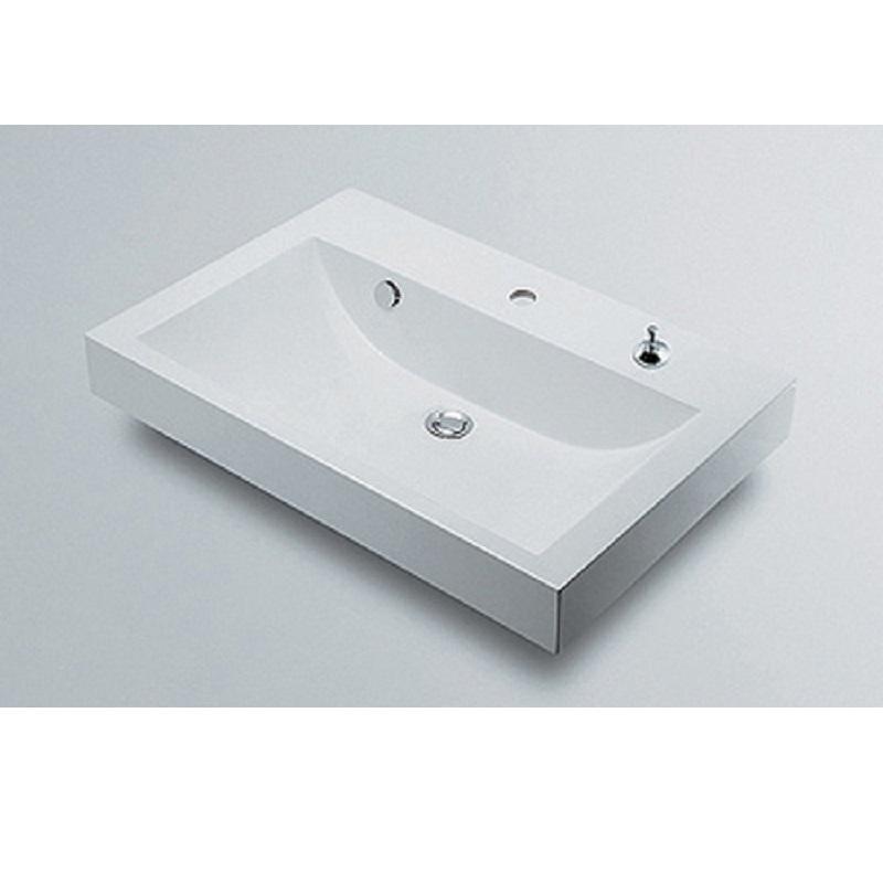 角型洗面器 493-070-750H 1ホール・ポップアップ独立つまみタイプ 水栓 住宅設備 水廻り 金具 カクダイ KAKUDAI 吉KD
