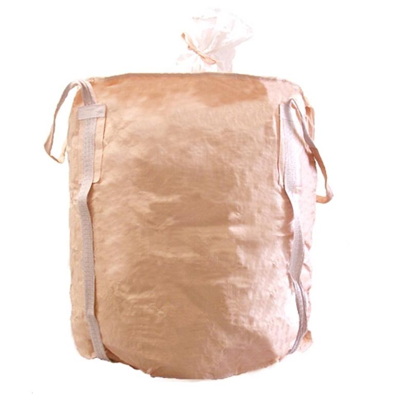 【代引不可】【10枚入】丸型 フレコンバッグ 1150THR-C 1050L 耐荷重1000kg 化学業界人気 ホッパー設備対応 工事 土木 米 麦 籾殻 もみがら 収穫 ふくなが
