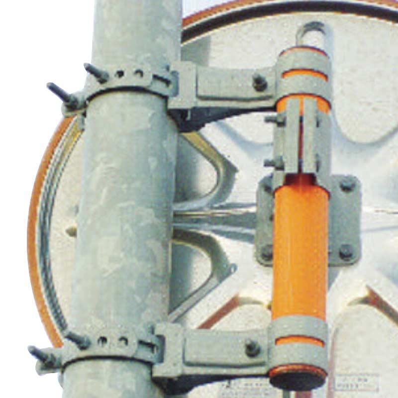 反射鏡用 補助ポール型 共架金具5号 道路 反射鏡 シンコーミラー アミD