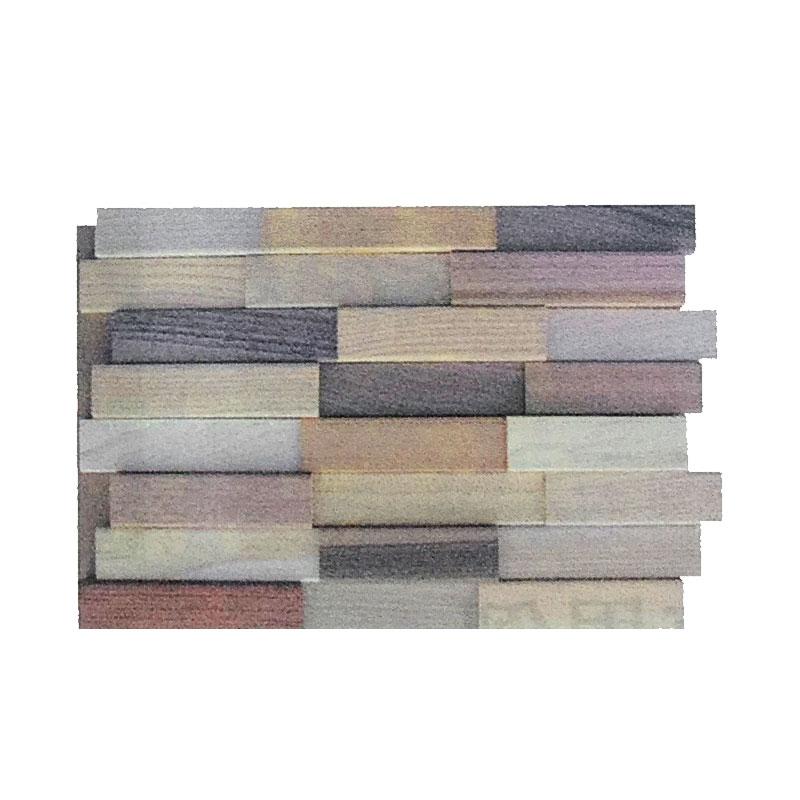 【代引不可】【7枚入】 壁 米松 タイル モザイクウッドタイル W5 480x320x21 壁材 施工 DIY リフォーム 全b