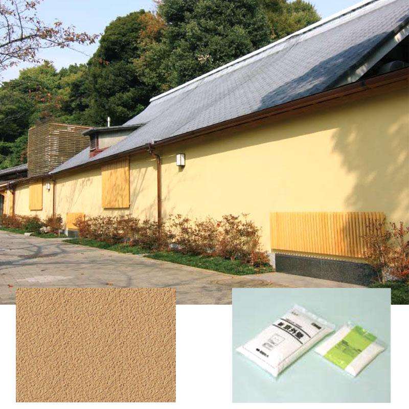 【代引不可】【4袋入】聚楽調 新京外壁 MKS 外壁専用 外装塗材 Dワ