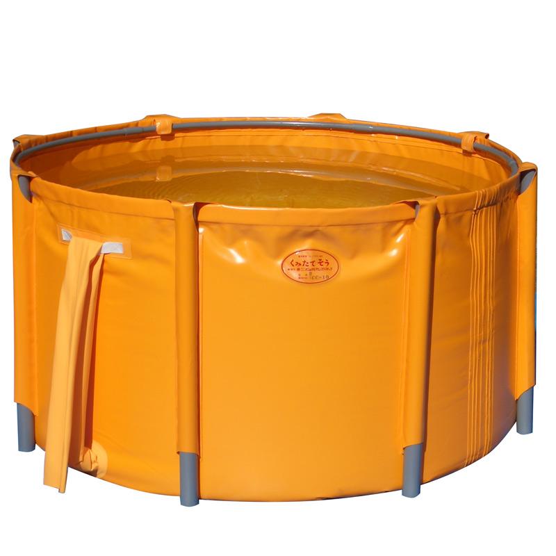 【代引不可】貯水槽 丸型 くみたてそう 消防用 C型 1650x700 1500L 45-10 防災 給水 タンク 水槽 災害 容器 ナM