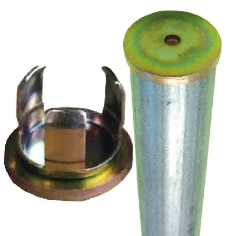 【代引不可】【120個入】 単管打込み用ヘッド 管打兄弟 J-303 48.6用 単管のヘッドにつけてハンマーで打つためのキャップ スッキリ綺麗な見栄え J販
