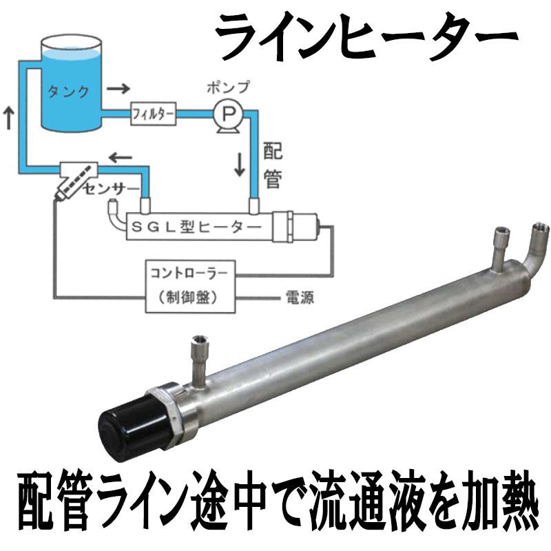【個人宅配送不可】【代引不可】工場製品 ねじ込みシェル型ヒーター SGL-3240 インライン サーキュレーション 液体加熱 PSEなし GA5型標準品使用 Nヒ