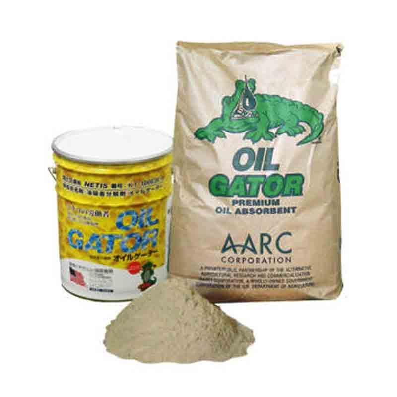 【代引不可】生分解性油吸着剤 オイルゲーター 6kg 油を吸着し微生物にて分解 コンクリート・アスファルトなどの油の流出汚れに Bフ