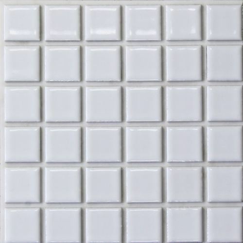 【代引不可】【33枚入】モザイクタイル 目地シール付き パフュームラインベーシック ブライトホワイト PF1T 浴室 室内 トイレ DIY 簡単施工 裏面シール貼るだけ 藤垣窯業 Lク
