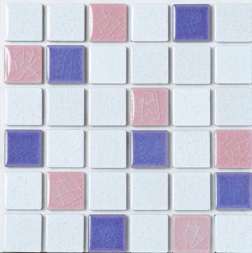 【代引不可】【36枚入】モザイクタイル 目地シール付き ピンキーミックス ブルーベリー PK-M3 浴室 室内 トイレ DIY 簡単施工 裏面シール貼るだけ 藤垣窯業 Lク