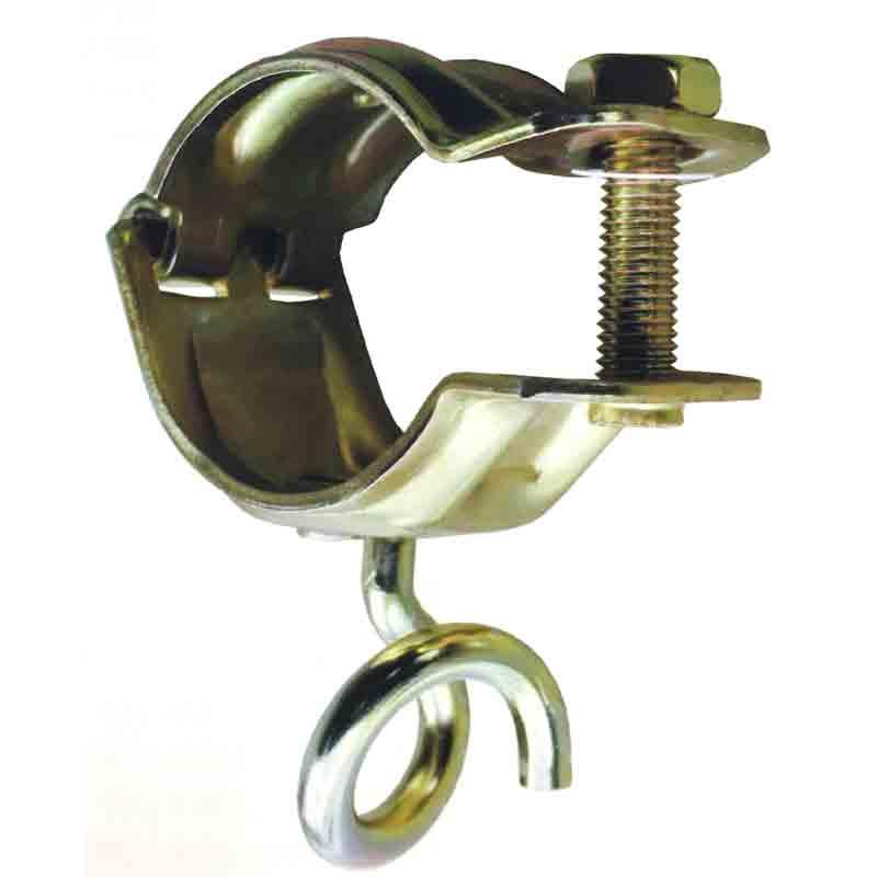 【代引不可】【120個入】 リングクランプ とんび 豚尾 J-1052 28.6-31.8パイプ用 ロープやチェーンをひっかけるリング付 通り易く外れにくい J販