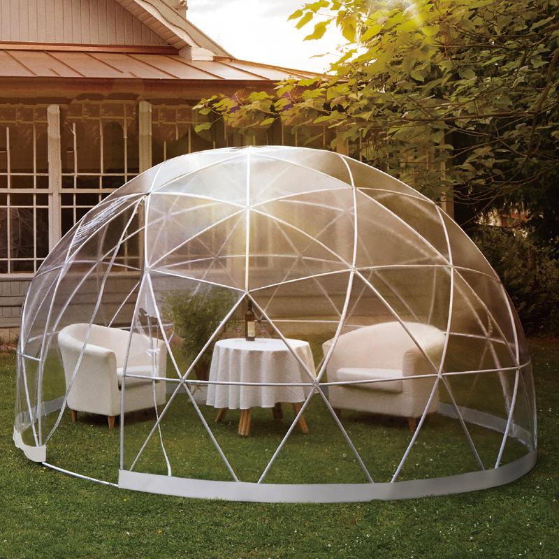 ガーデン用 ドーム型 テント ガーデンイグルー 220x360cm セット品 キャンプ グランピング 簡単設置 離れ エクステリア 庭 Garden Igloo 夢K 代引不可