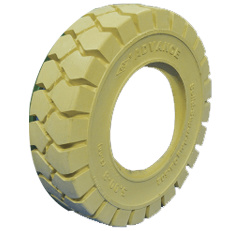産業車両用 ノーパンクタイヤ クリーム 300-15 リム幅8.00V ホイール無 アドバンス フォークリフト 重機 交換用 ふくなが 代引不可